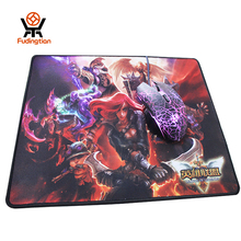 OEM factory custom heat transfer printing 300x350mm league of legends game rubber mouse pad