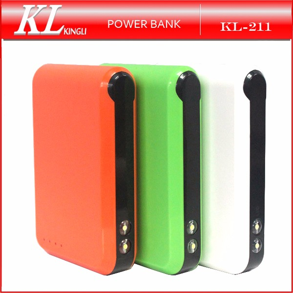 2016 Hot Selling Dual USB 5V 3A Portable 10400mah Power Bank for Mobile Charger