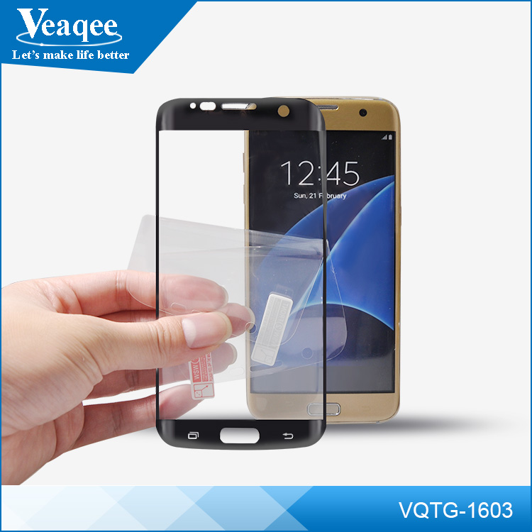 Veaqee mobile phones display tempered glass screen protector for samsung s6 edge