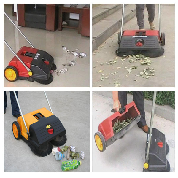 JL550S Walk Behind Manual Push Floor Broom Sweeper