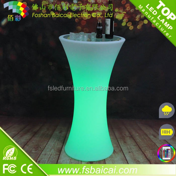Hot Sales Popular Night Club Outdoor Moma LED Medium Bar Table No folded Led Furniture