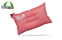 Self Automatic Beach Pillow Camping Travel PVC Inflatable Pillow for Neck Rest