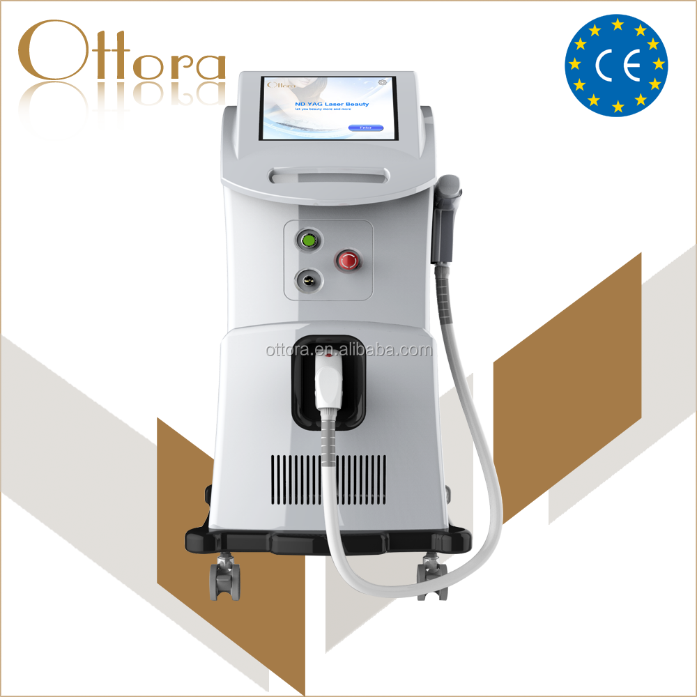 High quality lipo laser remove tattoo machine , Q switch nd yag laser system