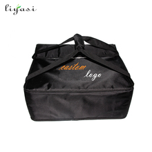 Custom printing logo 1680D oxford insulated pizza delivery bag
