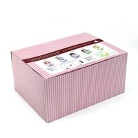 customized pink paper toys packing box