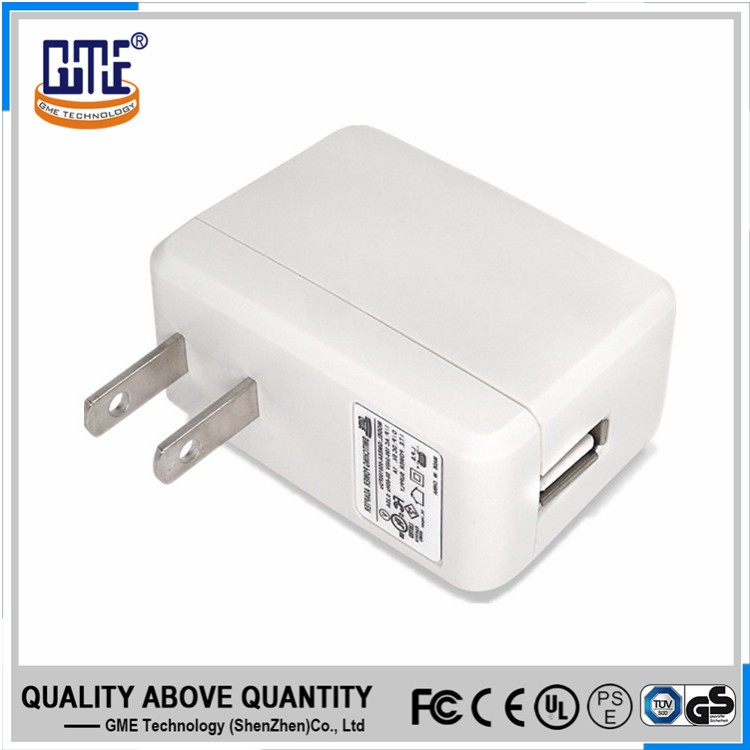 UL FCC certified CEC VI US plug 5v 2a USB phone adapter