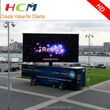digital led billboard truck HCM led motorcycle billboard mobile led screen for advertising
