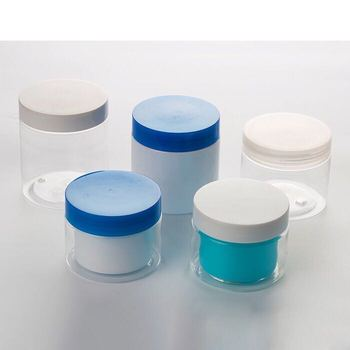 high fashion China made cosmetic packaging face mask blue cream jar