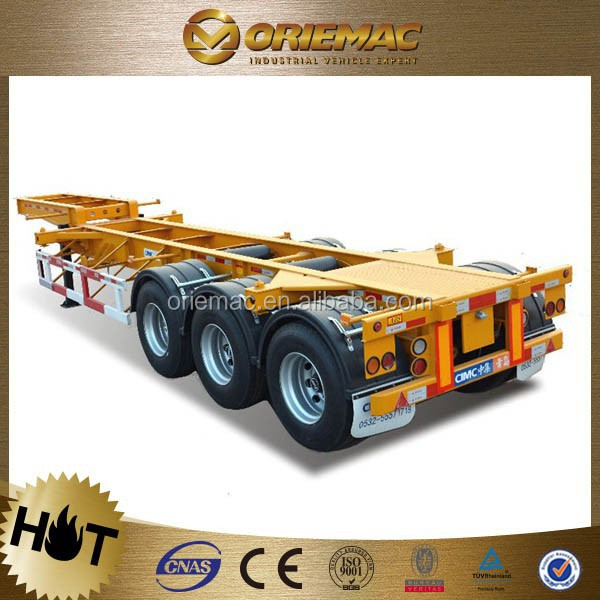 3 axles 40ft container loading flat bed trucks trailer for transportation , truck trailer used for sale germany