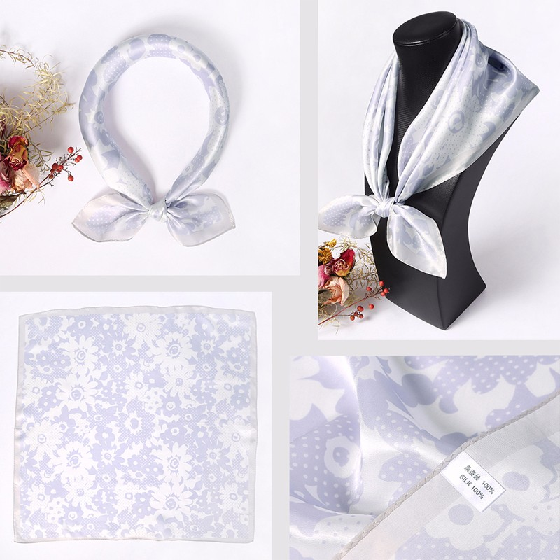 Popular high quality bandana online scarf lady silk satin neckwear