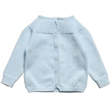 Promotional hand made cotton knit baby sweater designs for girls