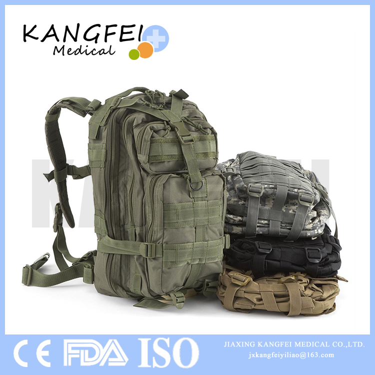 2017 New Arrival KF268 Wilderness Survival emergency first aid kit military backpack
