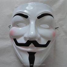 X-MERRY New V For Vendetta PVC mask Occupy Wall Street Guy Fawkes Cosplay Prop for Halloween Party
