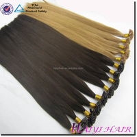 2016 New Arrival Last 12 Months Double Drawn Cuticle Aligned brown color 1g/s, alibaba express flat tip wholesale hair