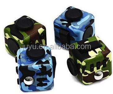 camouflage colors dice stress reliever Hand Fidget Spinner toys /Camouflage Colors Fidget Cube