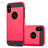 New Arrival Brushed Slim Armor Case for iPhone X, Hybrid TPU+PC Shockproof Phone back Cover Case For iPhone X