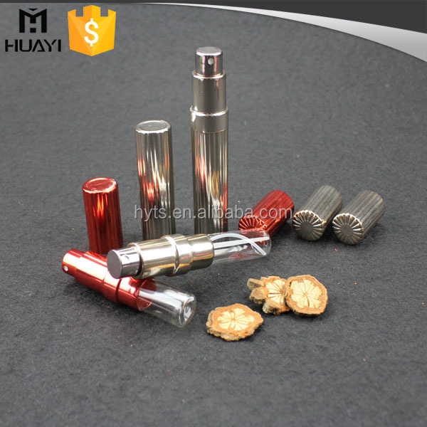 colored empty gold travel refill aluminium glass perfume atomizer bottle