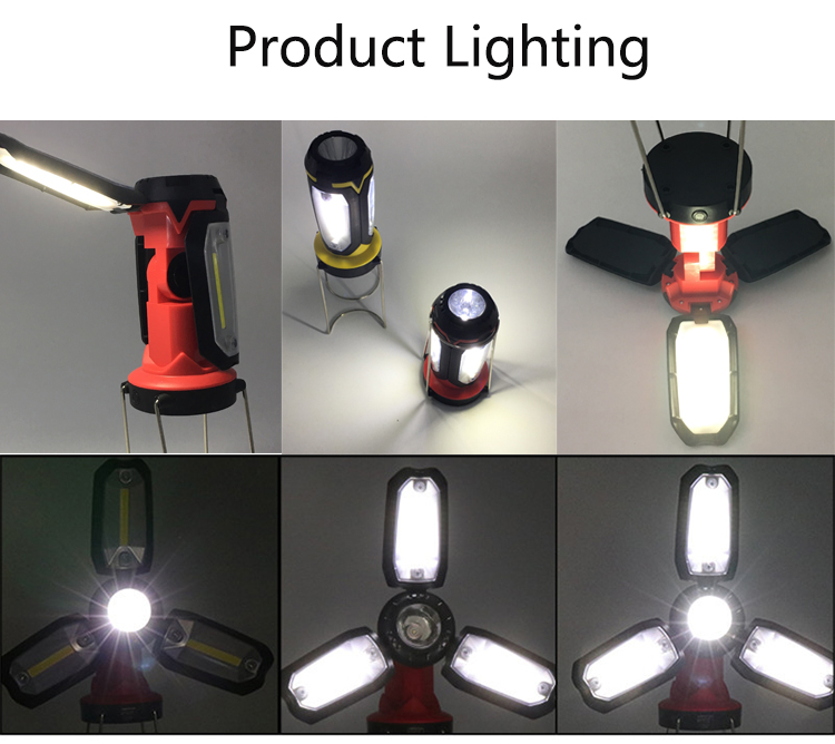 rechargeable usb led camping lantern flashlight