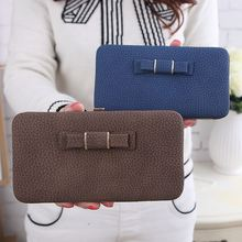 lady litchi stria bowknot wallet, fashion cell phone wallet