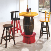 (SP-CT709) Uptop outdoor furniture wine barrel high table and chairs