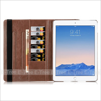 Premium pu leather flip folio folding stand high quality PU case cover with card holders for ipad/mini/pro