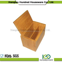 Customized design Trade Assurance Bamboo Tea bag Storage Box with cover