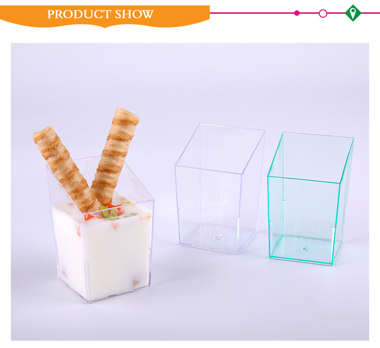 Latest arrival icecream juice plastic disposable cups with OEM design