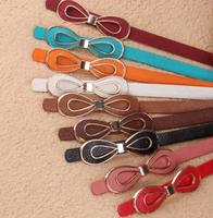 Women accessories best seeling products wholesale high quality lady slim belt for party dresses bowknot fashion pu leather belt