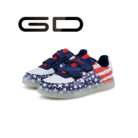GD trendy hot sale brilliant LED shoes non-slip durable outsole children sneakers