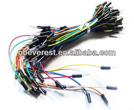 Very Cheap Jumper wires Electronic cables for experiment testing, M/M, pack of 75, multi-color