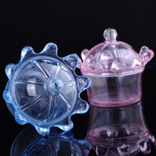Wedding or Baby Shower Favors Crown Shape Pink Prince or Blue Princess Transparent Plastic Candy Box