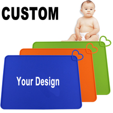 RENJIA kids eating table mats silicone silicone suction bowl placemat baby one piece silicone placemat and plate