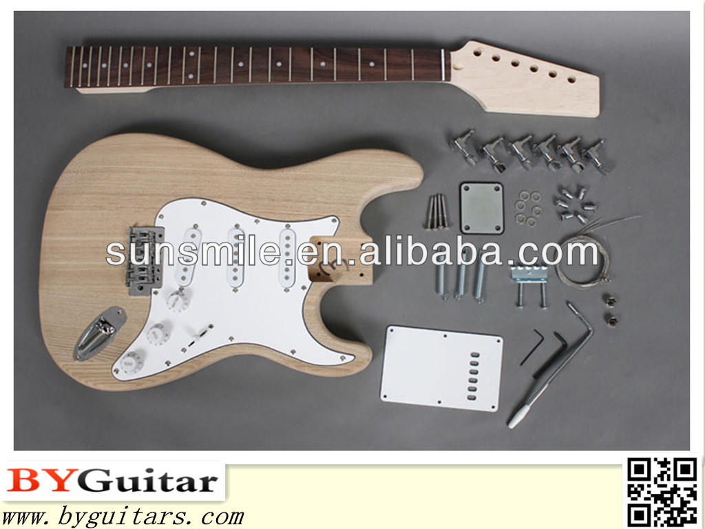 ST Style DIY Electric Guitar Kits with Ash Body GK SST 15