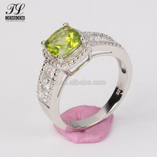 Emerald stone paved cz 925 sterling silver mini o cremation jewelry rings