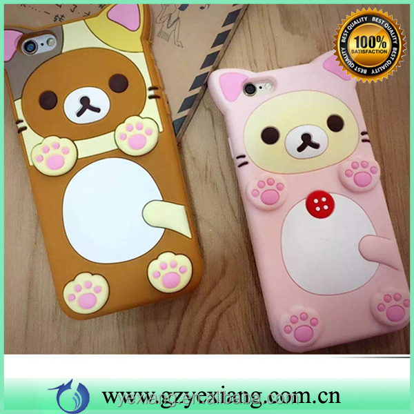 Wholesale popular cute animal silicon case for iphone 5 case cell phone cover