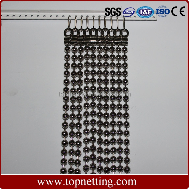 Decorative hanging room divider metal ball chain bead curtain
