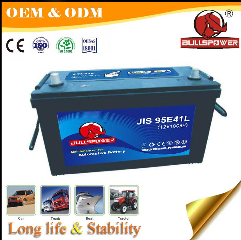construction vehicle 12V 100ah world best japanese auto start car battery
