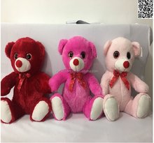 Direct deal High Quality plush toy three color bear.
