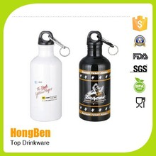 aluminium material novelty drinking water bottle with key chain