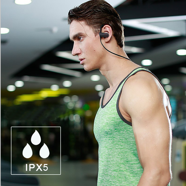 Bluetooth Wireless Headphones,  Sports Earphones w/Mic IPX7 Waterproof HD Stereo waterproof Earbuds  Battery Noise Cancelling