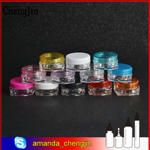 Hot sale 3g 5g mini sample plastic jar square for cosmetic powder