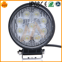 2016 top quality low defective rate 6000k IP68 waterproof 27w led work light flood light for offroad atv utv 4wd jeep used cars