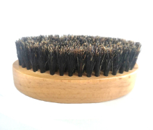wood handle boar bristle custom hair brush