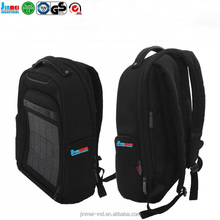 2017 new styleChina Guangdong factory wholesale black fancy waterproof polyester solar backpack hight quality whith good price