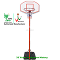 Portable outdoor adjustable basketball stand