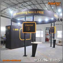Quick Lead Stylish Custom Fitted Trade Show Plastic Promotion Display Stand Exposure System Booth