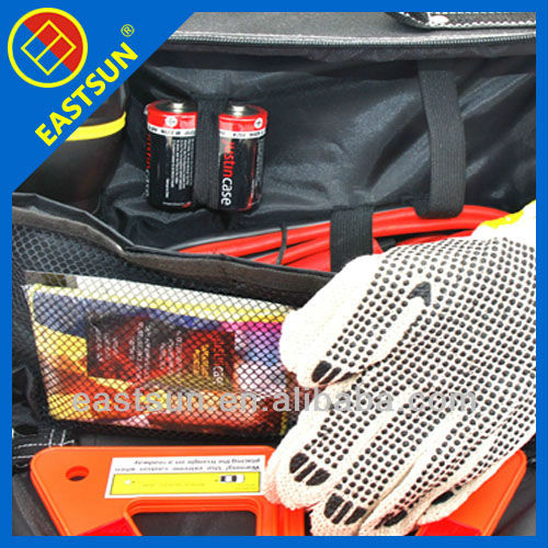 79 Pc Deluxe Auto Safety Kit With Warning Triangle