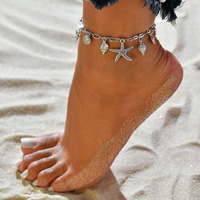 fashion silver anklets foot jewelry ankle bracelet nautical beach silver shell anklets for women