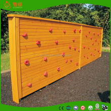 Wooden climbing wall for children park made in China