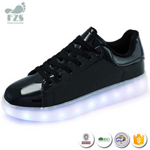 HFR-TS54061 wholesale Lace-up led luminous growing flat women shoes